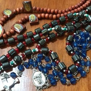 Jewelry - Rosary Religious Mother Mary Cross Necklaces 3